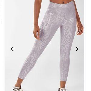 Fabletics haze gray powerhold printed leggings